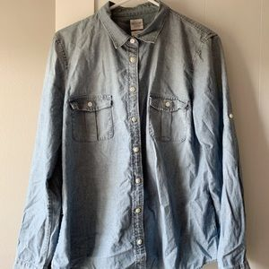 J.Crew Perfect Fit Chambray Shirt Size L